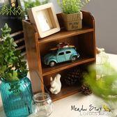 桌面木質化妝品收納盒辦公室儲物盒復古做舊客廳護膚品收納 樂活生活館