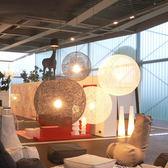 麻球led吊燈客廳餐廳吧繫創意藝術田園藤藝美式手工球形鳥巢燈具限時八九折