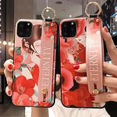 小米 紅米 Note6 Pro ?米Note7 小米9 小米A3 紅花女腕繩組 手機殼 全包邊 手袋 支架 可掛繩 保護殼