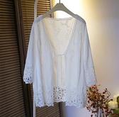 防曬服 蠅蠅防曬衣女2021夏季蕾絲拼接薄款寬鬆顯瘦百搭棉布開衫防曬外套