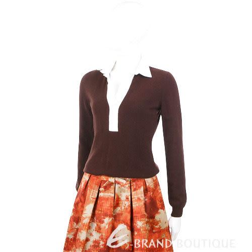 FABIANA FILIPPI 拼接針織長袖上衣(咖啡色) 0740231-07
