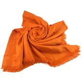 【奢華時尚】秒殺推薦!LV M71342 經典Monogram花紋橘黃色混絲羊毛披肩圍巾(九八成新)#23780