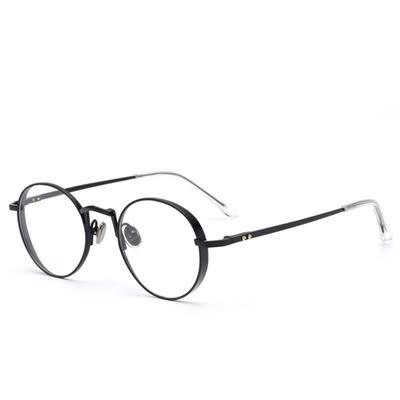 鏡架(圓框)-時尚玫瑰金寬邊流行男女平光眼鏡6色73oe4【巴黎精品】