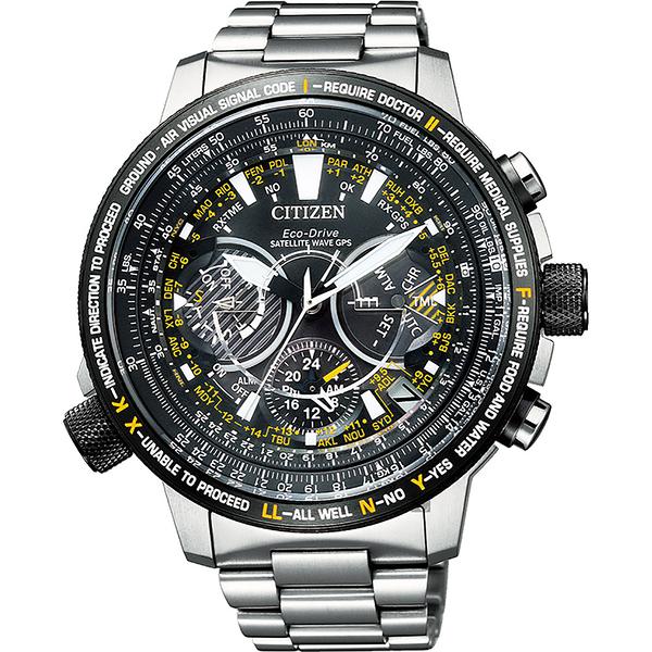 周思齊配戴款 CITIZEN 星辰 PROMASTER 30週年光動能 鈦 GPS衛星對時手錶-44mm CC7014-82E
