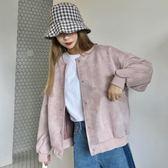 棒球服秋裝韓版bf原宿風寬鬆顯瘦短外套女百搭時尚棒球服夾克上衣潮 雲朵走走