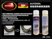 【台北益昌】德國製 AUTOSOL 排氣管熱暈痕清潔劑125ml 熱暈痕去除劑 排氣管不銹鋼藍暈痕去除劑