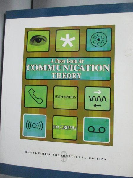 【書寶二手書T2/大學資訊_XDY】Communication Theory 6/e_Griffin