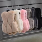 店長推薦 2018新款狐貍毛皮草馬甲女短款韓版顯瘦環保仿狐貍毛皮草外套