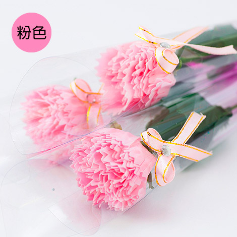 幸福婚禮小物「康乃馨香皂花束」 母親節首選/康乃馨/香皂花/感恩的心