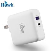 Hawk 36W高速PD+QC3.0 雙孔萬國急速充電器(白)