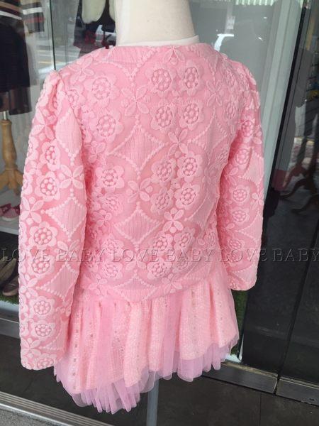 ☆╮寶貝丹童裝╭☆ 淑女 貴婦 小花 蕾絲 圖案 造型 透氣 舒適 女童 上衣+裙子 3件式套裝 新款 ☆