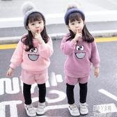 女寶寶秋冬套裝1女童洋氣2冬裝0嬰兒童裝3歲冬季時髦衣服2019新款 JY14582【潘小丫女鞋】