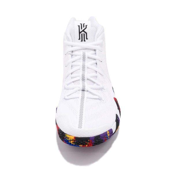 Nike Kyrie 4 EP NCAA 三月瘋 白 彩色 炫光勾勾 男鞋 籃球鞋 【PUMP306】 943807-104