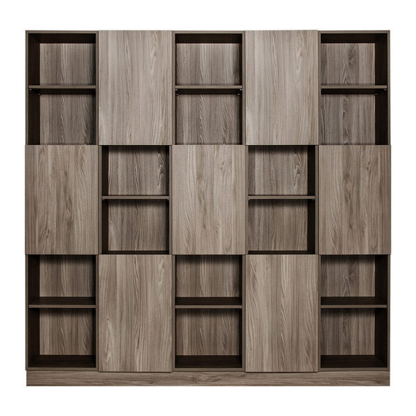 【Arkhouse】伯利恆系列-書房七門三十格7.5尺五高櫃 W225*H218*D35