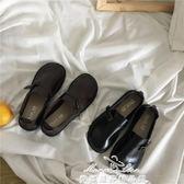 女鞋韓范百搭鞋PU小皮鞋大頭娃娃鞋學生單鞋父親節特惠下殺