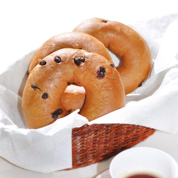 咖啡貝果480公克(4入)★愛家純素美食 非基改純淨素食麵包  外Q內軟 健康全素早餐