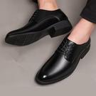 【限時下殺79折】正裝男士皮鞋男商務皮鞋黑色正韓尖頭新品英倫學生休閒皮鞋