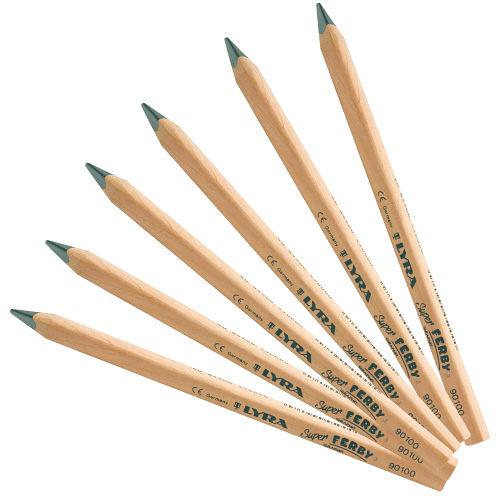 【德國 Lyra】兒童三角原木鉛筆 17.5cm (6入)