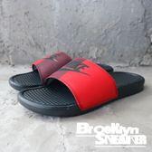 Nike Benassi Jdi  紅黑 褐色 陰陽 休閒 基本 拖鞋 男 (布魯克林) 2018/7月 343880-008