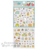 〔小禮堂〕角落生物 日製造型透明貼紙《綠.格線.食物》裝飾貼 4974413-71715