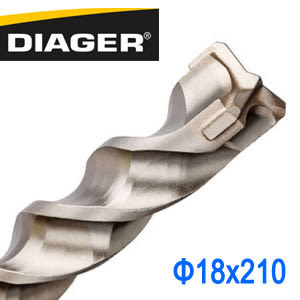 法國DIAGER 四溝三刃水泥鑽尾鑽頭 可過鋼筋四溝鋼筋鑽頭 18x210mm