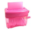 《享亮商城》Q04801 蜜桃粉色 直碎型手動式碎紙機 ABEL