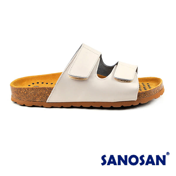 【Sanosan】sietelunas磁氣休閒魔鬼氈涼拖鞋/女鞋 米色(S3309-BE)