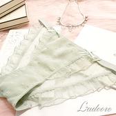 內褲 Ladoore 派對小屋 性感細帶蕾絲內褲 (綠)
