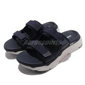 Skechers 拖鞋 Max Cushioning Sandal North Beach 男鞋 深藍 運動拖鞋【ACS】 229017NVBL