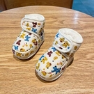 學步鞋 1歲棉鞋子春季軟底學步新生男女寶寶8-10個月加厚保暖不掉3【快速出貨八折鉅惠】