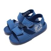 adidas 涼拖鞋 Altaswim I 藍 童鞋 小童鞋 魔鬼氈 【PUMP306】 BA9281