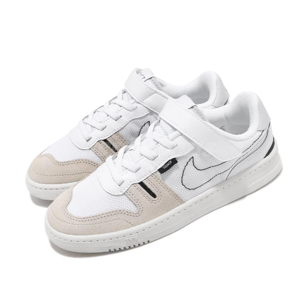 Nike 休閒鞋 Squash-Type PS 白 灰 童鞋 中童鞋 運動鞋 【ACS】 CJ4120-100