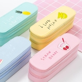 大容量帆布雙層筆袋女ins韓國簡約初中小學生文具盒兒童小清新可愛卡通鉛筆盒男