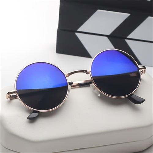 墨鏡 網紅新款個性復古圓形太陽眼鏡男女士韓版太子潮圓臉 - 雙十二交換禮物