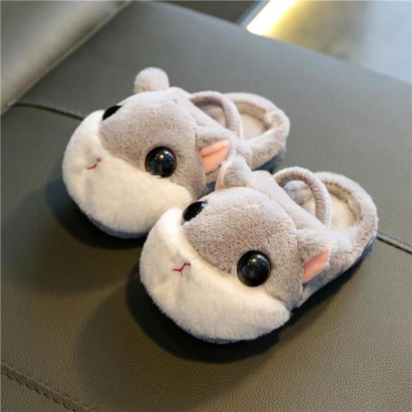 男童女童棉拖鞋秋冬季寶寶嬰兒童防滑小孩室內1-3歲家用幼兒毛毛2 格蘭小鋪