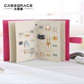 首飾收納盒耳釘耳環收納書本 首飾品收納盒