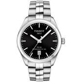 TISSOT 天梭 PR100 Powermatic 80 機械手錶-黑x銀/39mm T1014071105100