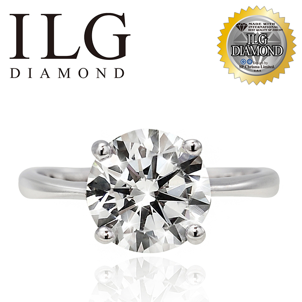 【ILG鑽】Mirrors 沉靜氣息 2.0克拉-頂級美國ILG鑽飾,媲美真鑽亮度的鑽飾 RiP35