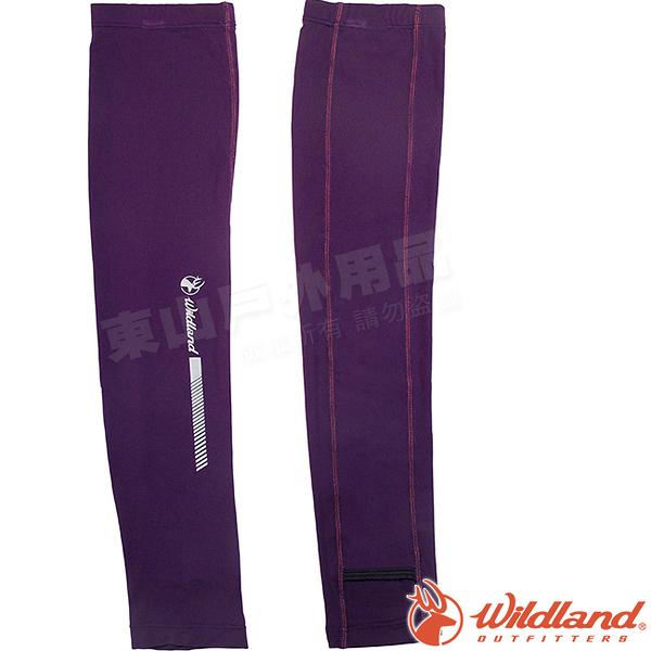Wildland 荒野 W1810-53紫色 中性開洞抗UV透氣袖套 抗UV遮陽手套/快乾機車手套/單車防曬袖套*