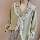 氣質造型鏤空棉蕾絲領巾小披肩女圍巾搭肩清新坎肩打結學院風 時尚芭莎