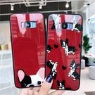 三星S8 手機殼s9 保護套s7玻璃鏡面s8情侶note8抖音s7edge支架