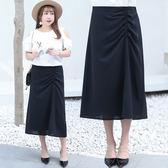 中大尺碼~鬆緊帶設計優雅長裙(XL~4XL)