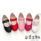 【樂樂童鞋】氣質小花皮鞋 S828 - 女童鞋 男童鞋 兒童鞋子 平價童鞋 優質童鞋 皮鞋 娃娃鞋 公主鞋