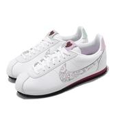 Nike 休閒鞋 Wmns Classic Cortez Leather SE 白 紫 情人節 女鞋 阿甘鞋 運動鞋 【ACS】 CI7854-100