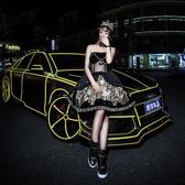 汽車反光貼紙車身裝飾條自行車貼夜光反光膜輪轂改裝【步行者戶外生活館】
