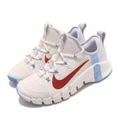Nike 訓練鞋 Wmns Free Metcon 3 米白 紅 女鞋 多功能 運動鞋 【ACS】 CJ6314-146