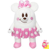 Hamee 日本 迪士尼 Mocchi Mocchi 細緻絨毛 療癒娃娃 玩偶 抱枕 靠墊 (雪白米妮) 247675