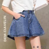 牛仔短褲女A字裙褲熱褲子闊腿褲裙