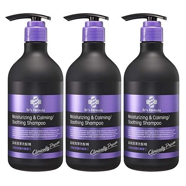 【南紡購物中心】《台塑生醫》Dr's Formula晶極潤澤洗髮精580g*3瓶