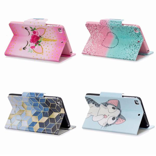 蘋果 iPad Mini5 Mini4 Mini3 Mini2 Mini N10彩繪平板套 平板皮套 插卡 支架 平板保護套